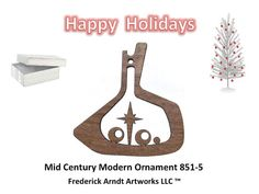 8515 Mid Century Modern Ornament by FredArndtArtworks on Etsy, $14.95