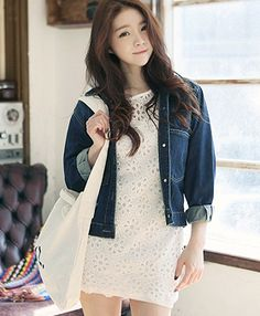 Today's Hot Pick :Dark Wash Denim Jacket JY-14570 http://fashionstylep.com/SFSELFAA0000821/elyscoen/out HelloElys is trendy women's clothing shop from Seoul, Korea which is the hottest fashion spot in Asia just now. We offer a fine selection of romantic and lovely outerwear, tops, and bottoms, etc. for your daily wardrobe with decent pricing and high quality you can trust. ( Model Size - Height: 170cm, Weight: 48kg, Top: S, Bottom: 24inch )