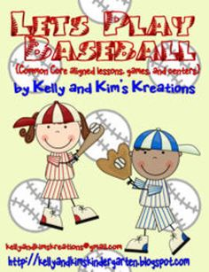 """""""Let's Play Baseball"""" combines reading lesson ideas and materials to match the books Hit the Ball, Duck! and Bats at the Ballgame, in addition to more baseball-themed games and centers.  Kindergarten Common Core: RL.K.1, RL.K.9, RF.K.3.c, L.K.1.a, L.K.1.b, L.K.2.b, L.K.4.a, K.OA.1, K.OA.5, K.MD.3, K.CC.4, K.CC.6  First Grade Common Core: RL.1.1, RL.1.9, RF.1.1, RF.1.3, L.1.1.a, L.1.2.b, L.1.4.a, L.1.5, 1.OA.1, 1.OA.5, 1.OA.6, 1.MD.4  $8.00"""