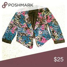 Blazer Colorful flower print Bisou Bisou Jackets & Coats Blazers