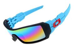 88e517b9ae755 Oakley Oil Rig Blue Black Frame Colors Lens sale online