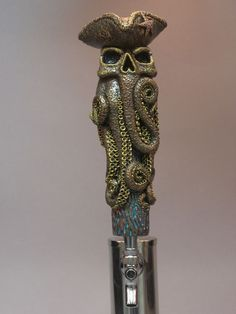 """""""OCTO-PIRATE (OCTOPUS-PIRATE_ BAR BEER TAP HANDLE DIRECT FROM RON LEE"""