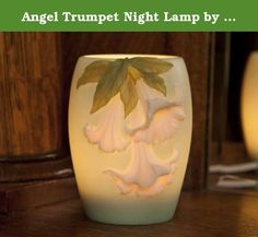 "Angel Trumpet Night Lamp by Ibis & Orchid #55020. Ibis & Orchid Design Night Lamps inspired by ""The Flowers of Light"" collection are cast in bonded marble and produce a vivid design and warm glowing light for your home or patio. They are carefully sculpted and are hand painted and come in a variety of different designs. The detail and artwork is outstanding as is always expected from Ibis and Orchid. Lamp is approx. 4"" wide x 5"" high and includes 15 w candelabra bulb, cord and switch, and..."