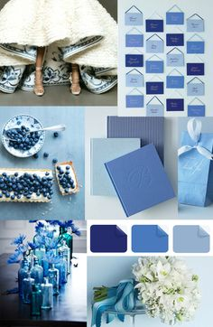 Latest Wedding Color Trends-Blue Wedding Ideas and Invitations |