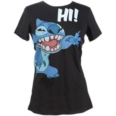 Amazon.com: Hot Topic Women's Disney Lilo & Stitch Hi T-Shirt:... ($23) ❤ liked on Polyvore featuring tops, t-shirts, disney t shirts, disney, stitch top, disney tops and disney tee