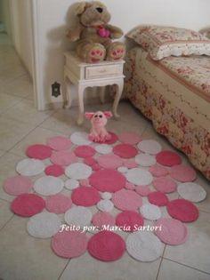 tapetes de crochê redondos para sala - Pesquisa Google