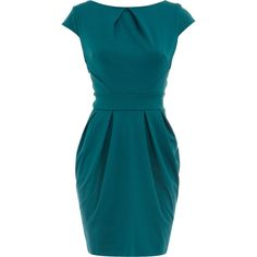 Teal lampshade dress and other apparel, accessories and trends. Browse and shop related looks.