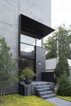 44 Amazing Modern Contemporary Urban House Ideas is part of architecture - The housing shortage in urban areas accounts for approximately 24 71 million housing units, according to official estimates of the […] Modern Entrance, Entrance Design, House Entrance, Facade Design, Exterior Design, Entrance Ideas, Modern Architecture House, Facade Architecture, Residential Architecture