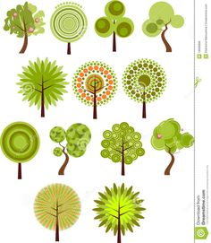 tree art | More similar stock images of ` Collection of tree clip-art `