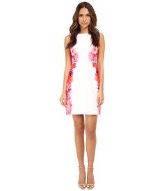Calvin Klein Printed Sheath Dress Hibiscus Multi - 6pm.com