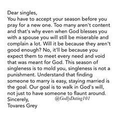 "7,089 Likes, 380 Comments - Godly Dating 101 (@godlydating101) on Instagram: ""Dear singles..."""