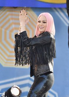 """Jessie J has some fun during a performance on """"Good Morning America"""" on May 22 in New York"""