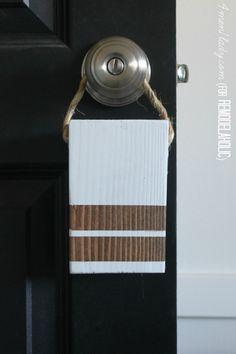 Easy Schoolhouse-Inspired DIY Doorstop -- and it hangs on your door when you're not using it! 4men1lady for Remodelaholic.com