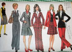 Vintage 1970s Sewing Pattern Simplicity 5140 Misses'