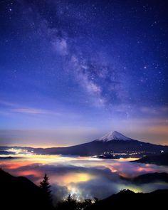 Fallow my account . you have best wallpaper ever seen Japan Landscape, Fantasy Landscape, Landscape Art, Beautiful Places In Japan, Beautiful World, Mount Fuji Japan, Fuji Mountain, Monte Fuji, Scenery Pictures