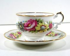 Vintage Tea Cup and Saucer, by Elizabethan, Fine Bone China, Made in England
