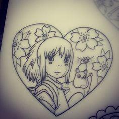 Spirited away tattoo design #spiritedaway #studioghilbli #ghibli #anime #tattoo…