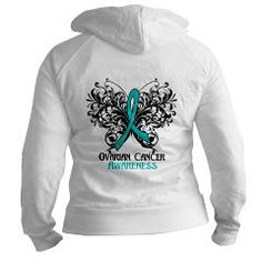 Butterfly Ovarian Cancer Jr. Hoodie> Butterfly Floral Ovarian Cancer Shirts and Gifts> Hope & Dream Cancer Awareness T-Shirt Store