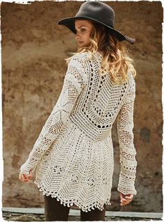 Confiserie Crochet Cardigan - back
