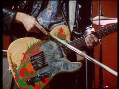 icantfindmybluebird:    another close up…    Jimmy Page's painted Telecaster.
