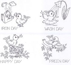 Vintage Embroidery Pattern 3482 Animated Birds for Tea Towels PDF instant download by BlondiesSpot on Etsy https://www.etsy.com/listing/121568970/vintage-embroidery-pattern-3482-animated