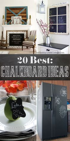 Hop on the chalkboard train with this roundup of ideas via Shabby Creek Cottage