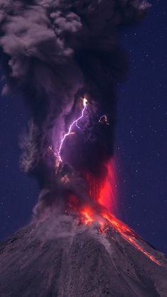 Tongariro Story. Eruption, lightning, lava, volcano ref
