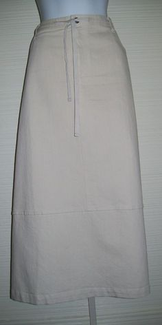 "18W Cargo Pocket SKIRT 40"" Waist Heavy Canvas Duck Modest C J Banks No Slit Long #CJBanks #ALine"