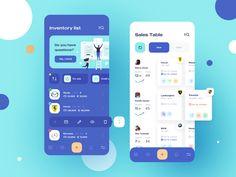 Inventory App Design by Anatoliy on Dribbble Web Design Mobile, App Ui Design, Interface Design, Site Design, Flat Design, Design Design, Design Responsive, Responsive Web, Dashboard Interface
