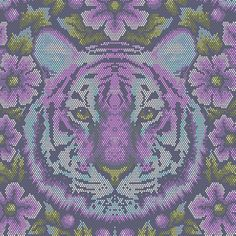 Crouching Tiger - Amethyst - Tula Pink Fabric - Shop for it at www.valliandkim.com