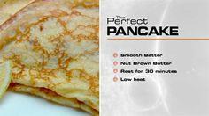 The Perfect… Pancakes with lemon & sugar - Gary Mehigan Master Chef, Breakfast Time, Breakfast Recipes, Perfect Pancake Recipe, Masterchef Recipes, Pancakes And Waffles, Thin Pancakes, Baked Pancakes, Masterchef Australia