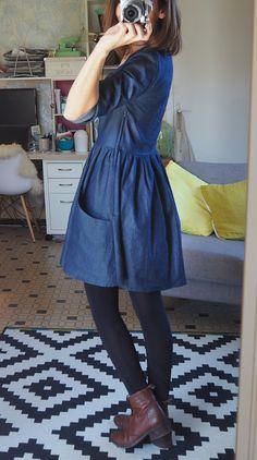 pour mes jolis mômes, mais pas que...: La petite robe en jean