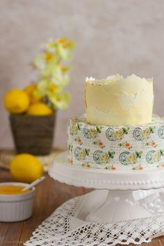 Layer cake de limón (con lemon curd) | Con aroma de vainilla