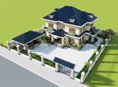 House Floor Design, Bungalow House Design, House Plans Mansion, Dream House Plans, 3d House Plans, House Layout Plans, House Layouts, Classic House Design, Modern House Design