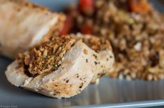 Aromatic, delicate ... diet :) Roulade of chicken breast baked in foil.