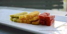 one handed cooks: toddler finger food: vegetable polenta chips
