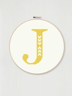 This counted cross stitch pattern allows you to create your own embroidered monogram with your choice of fabric and thread color. The downloadable PDF includes a pattern and basic information such as stitch count and cloth recommendation. The project is shown on 18-count Aida cloth and fits a 5 hoop, but the size can be adjusted depending on what count fabric you choose. As is, the project will display beautifully in a 5 hoop. The letter itself is 55 stitches high and 39 stitches across…