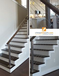 We have pre-assembled and ready to install cable railing kits for our wood newel posts that are perfect for experienced installers as well as DIY warriors. Installation instructions come with all kits. See all of our products on our website: https://cheapstairparts.com/products/cable-railing/ #StairRemodel #InteriorDesign #Staircase #StaircaseRemodel #Stairs #IronBaluster