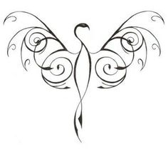 Phoenix tattoo...will hopefully be my first someday <3 love the tribal style