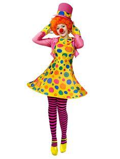 details zu clown kleid smiley kost m damen karneval zirkus party kost me damen verkleidung. Black Bedroom Furniture Sets. Home Design Ideas