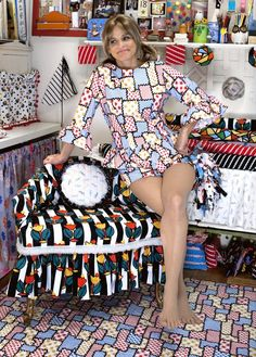 """Windham Fabrics debuts """"I Like You"""" by Amy Sedaris Jerri Blank, Amy Sedaris, Windham Fabrics, Hooray For Hollywood, Love Affair, The Ordinary, American Actress, Night Gown, Like You"""