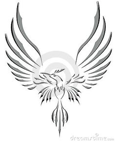 Royalty Free Stock Photo Freedom Symbol Tattoo Flying Bird With Big Wings