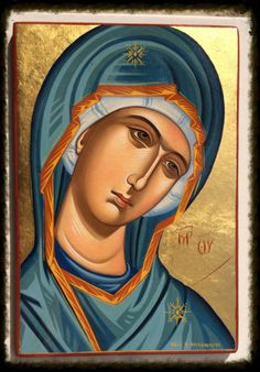 Theotokos Panagia MADE TO ORDER Handpainted Eastern Orthodox Byzantine Icon | eBay