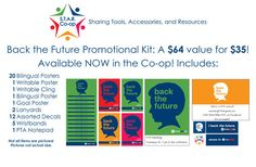 "Texas PTA S.T.A.R. Co-op: ""Back The Future"" Promotional Kit 2014-2015"