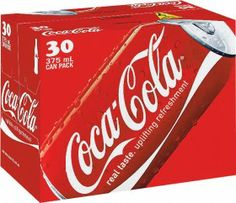 Coca-Cola, Zero or Diet Cans 30 x 375ml