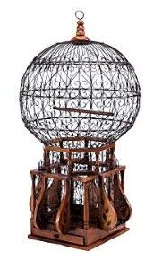 dome bird cage, victorian  13 in x 13 in x 25