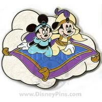 Pin 61537: Mickey and Minnie as Disney Couples - Aladdin and Jasmine