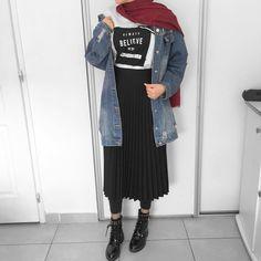 Fall Fashion Outfits, Hijab Fashion, Autumn Fashion, Womens Fashion, Fashion Tips, Mode Hijab, Hijab Outfit, Hipster, Ootd