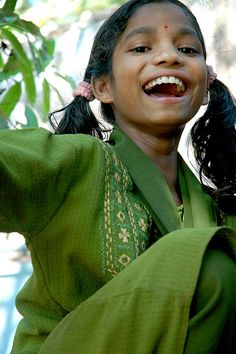 Happy Happy Girl, Kerala, India by Jennifer Esperanza