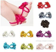 Baby Barefoot Sandals. So cute!